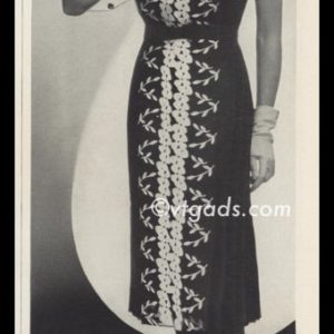 1938 Vintage Ad Louis Levine Embroidered Dress