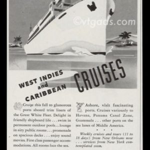 1947 United Fruit Co. Vintage Ad | Great White Fleet Cruise Line