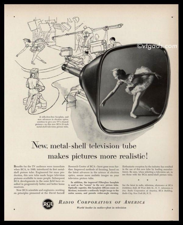 1952 RCA Radio Corp of America Vintage Ad | Ballerina