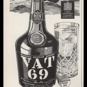 1952 VAT 69 Scotch Whisky Vintage Ad | Sport Fishing