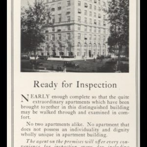 1925 1020 Fifth Ave Apartments Vintage Ad