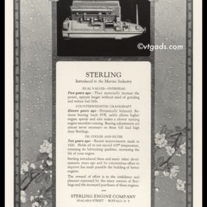1925 Sterling Engine Co. Vintage Ad | Sterling Sea Gull Engine