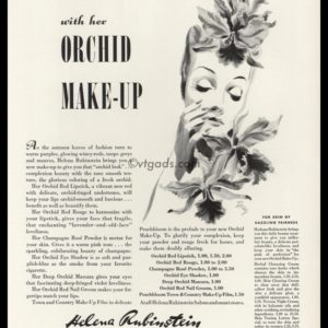 1938 Helena Rubinstein Vintage Ad | Orchid Make-Up