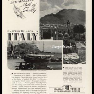 1938 Italian Tourist Information Office Vintage Ad | Sicily