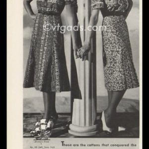 "1938 Mayflower Dress Co. Vintage Ad | ""Cotton Conquests"""