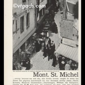 1938 Railways of France Vintage Ad | Mont. St. Michel