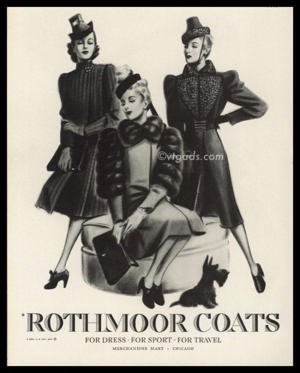 1938 Rothmoor Coats Vintage Ad | Merchandise Mart