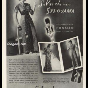1938 Vintage Ad Schrank Syl-O-Jama Pajamas