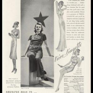 1938 American Maid Vintage Ad | Trico-Lingette Lingerie